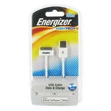 Снимка от USB кабел за iPhone 4/4S / iPad /  iPod, 150см. - ENERGIZER