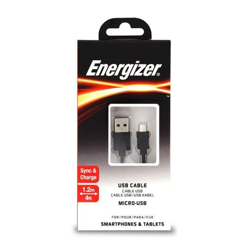 Снимка от Микро USB кабел 1.2м - ENERGIZER