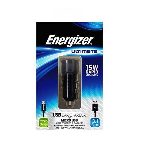 Снимка от Зарядно за автомобил с Micro USB кабел, 2xUSB, 3.1A - ENERGIZER