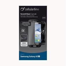 Снимка от Второ закалено стъкло за Samsung Galaxy A3 2017 черно- Cellular Line