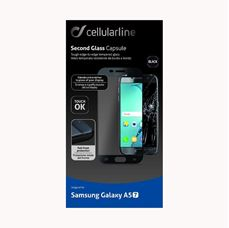 Снимка от Второ закалено стъкло за Samsung Galaxy A5 2017 черно- Cellular Line