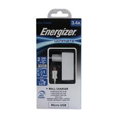 Снимка от Мрежово зарядно с Micro USB кабел, 2xUSB, 3.4A - ENERGIZER
