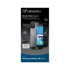 Снимка от Второ закалено стъкло за Samsung Galaxy J5 2017 черно- Cellular Line