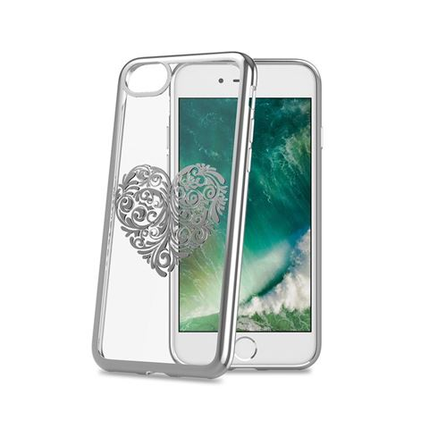 Снимка от Капак LASER за iPhone 8 / 7 / 6 / 6S, Heart2 - Celly