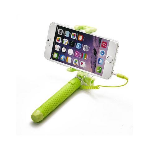 Снимка от Мини селфи стик с кабел, зелен - Celly