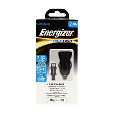 Снимка от Зарядно за автомобил с Micro USB кабел, 2xUSB, 2.4A - ENERGIZER