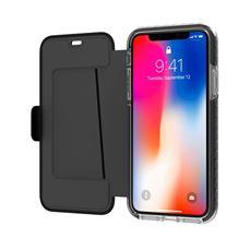Снимка от Калъф тип книга HEXAWALLY, максимална защита за iPhone XS / X, черен - Celly