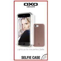 Снимка от Капак за iPhone 7 / 8 с LED светлина за перфектно селфи, розово злато - ОХО