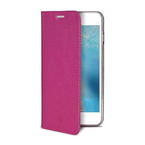 Снимка от Калъф AIR PELLE тип книга от естествена кожа за iPhone 8 / 7, розов - Celly