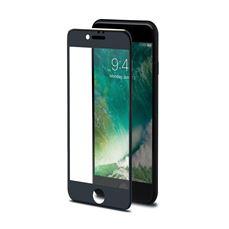 Снимка от Стъклен протектор 3D GLASS за iPhone 8 / 7, черен  - Celly