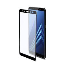 Снимка от Стъклен протектор FULL GLASS за Samsung Galaxy A8 , черен - Celly