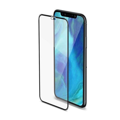 Снимка от Стъклен протектор 3D GLASS за iPhone XR, черен  - Celly