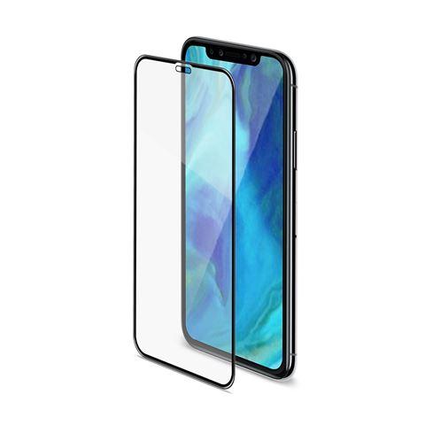 Снимка от Стъклен протектор 3D GLASS за iPhone XS Max, черен  - Celly