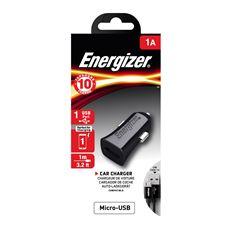 Снимка от Зарядно за автомобил с Micro USB кабел, 1xUSB, 1A - ENERGIZER