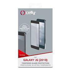 Снимка от Стъклен протектор FULL GLASS за SAMSUNG Galaxy J6 2018 , черен - Celly
