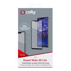 Снимка от Стъклен протектор FULL GLASS за HUAWEI Mate 20 Lite , черен - Celly
