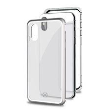 Снимка от Капак от закалено стъкло и алуминиев корпус ATTRACTION за iPhone XS Max , сив - Celly