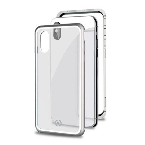 Снимка от Капак от закалено стъкло и алуминиев корпус ATTRACTION за iPhone XS / Х , сив - Celly