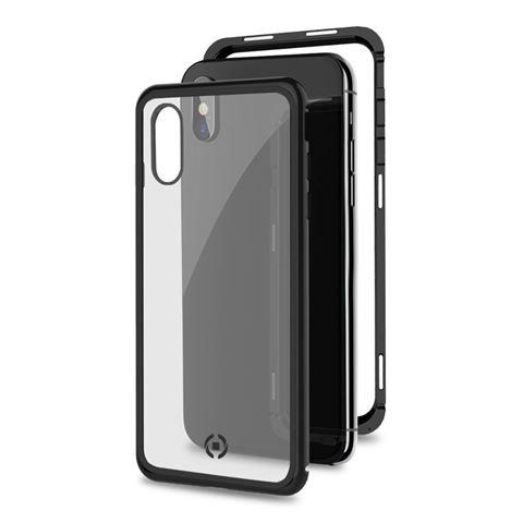 Снимка от Капак от закалено стъкло и алуминиев корпус ATTRACTION за iPhone XS / Х , черен - Celly