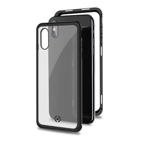 Снимка от Капак от закалено стъкло и алуминиев корпус ATTRACTION за iPhone XS Max , черен - Celly