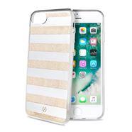 Снимка от Капак STRIPES за iPhone 8 / 7 / 6S / 6, златни ленти - Celly