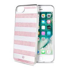 Снимка от Капак STRIPES за iPhone 8 / 7 / 6S / 6, розови ленти - Celly