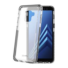 Снимка от Капак HEXAGON за Samsung Galaxy A8 2018, черен  - Celly