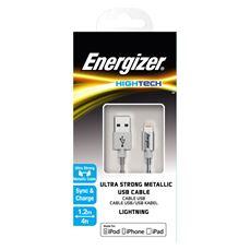 Снимка от Стоманен кабел за iPhone, сребърен - ENERGIZER
