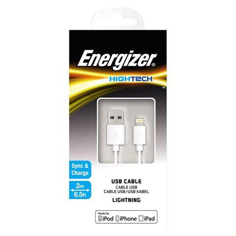 Снимка от USB кабел за iPhone 2м, бял - ENERGIZER