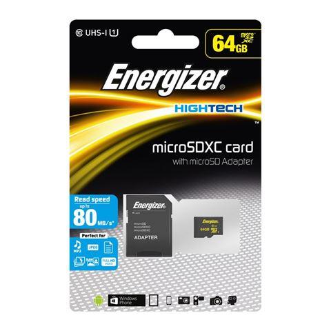 Снимка от Карта памет 64GB 80MB/s - Energizer