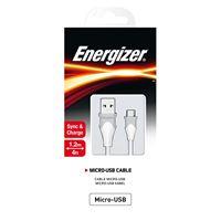 Снимка от Кабел за данни Micro USB към USB-А, 1.2м, Bicolor white - ENERGIZER