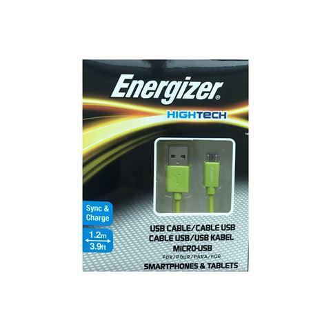 Снимка от Кабел за данни Micro USB към USB-А, 1.2м, Green - ENERGIZER