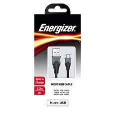 Снимка от Кабел за данни Micro USB към USB-А, 1.2м, Bicolor black - ENERGIZER