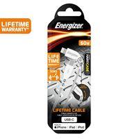 Снимка от Кабел за данни USB-C към iPhone, 2м, Lifetime Warranty, White - ENERGIZER