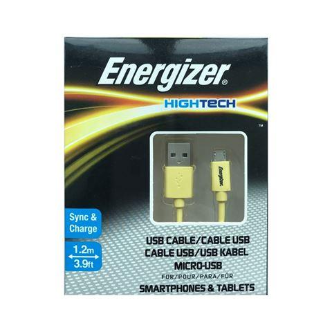 Снимка от Кабел за данни Micro USB към USB-А, 1.2м, Yellow - ENERGIZER