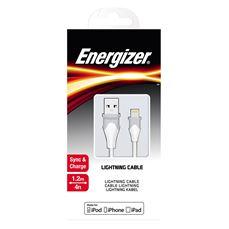 Снимка от Кабел за данни iPhone към USB-А, 1.2м, Bicolor White - ENERGIZER