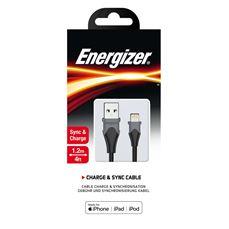 Снимка от Кабел за данни iPhone към USB-А, 1.2м, Bicolor Black - ENERGIZER