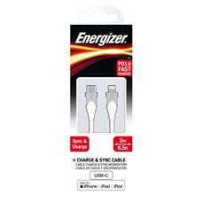 Снимка от Кабел за данни iPhone към USB-C, 2м, Bicolor White - ENERGIZER