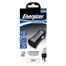 Снимка от Зарядно за автомобил с USB-C кабел, 2xUSB, 3.4A  - ENERGIZER
