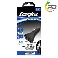 Снимка от Зарядно за автомобил с USB-C кабел, 2xUSB, 1xUSB-C, 3.4A  - ENERGIZER