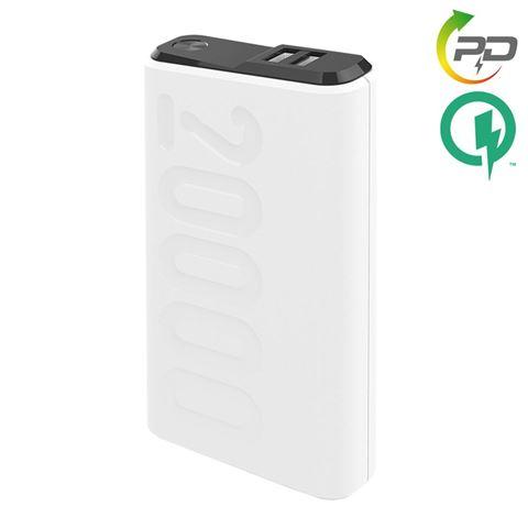 Снимка от Външна батерия Power Delivery 20000 mAh, QC3.0, White - Celly